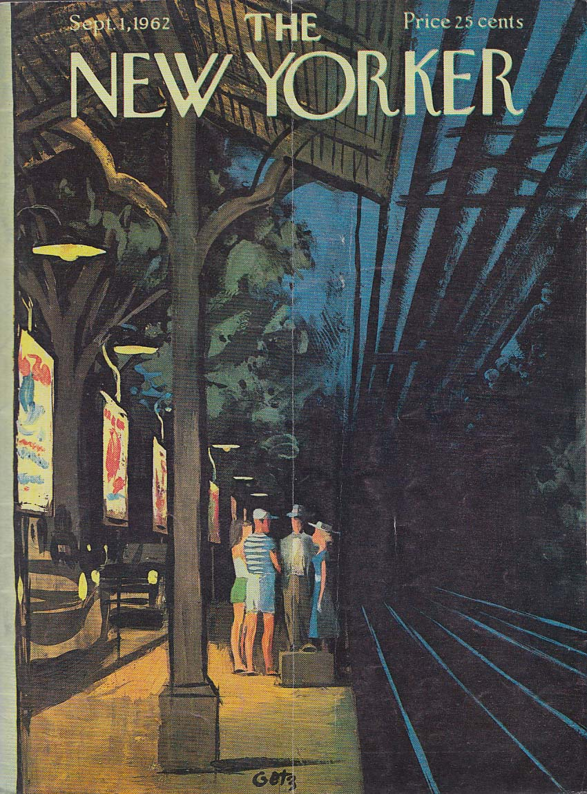 Image for New Yorker cover Getz vacation transit train 9/1 1962