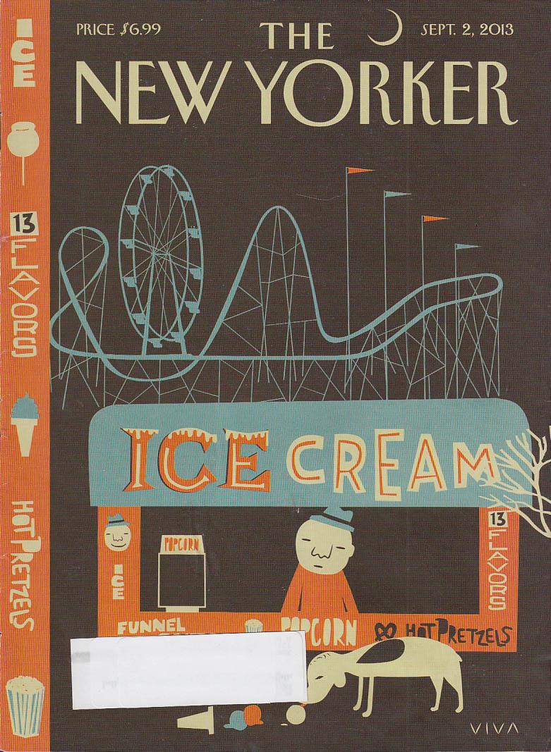 New Yorker cover 9/2 2013 Viva - Coney Island Ice Cream Stand pretzels