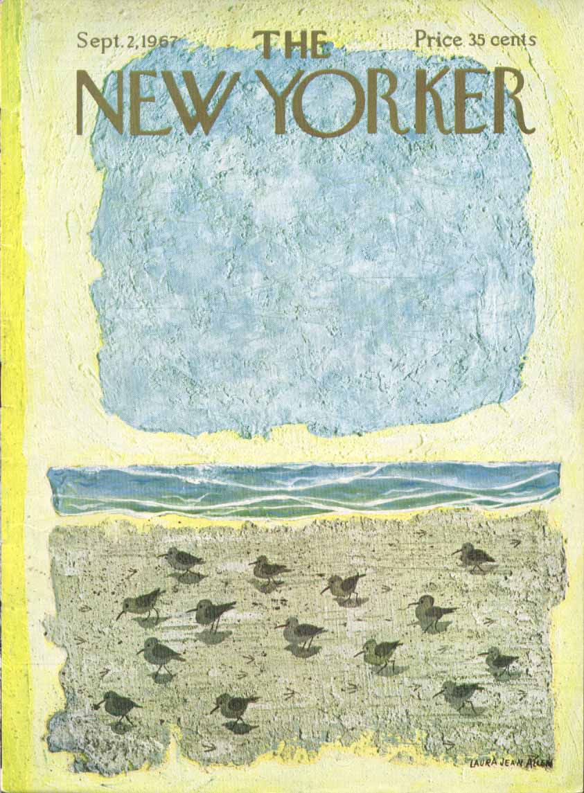 New Yorker cover Allen sandpiper tableau 9/2 1967
