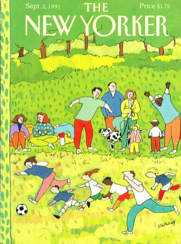 Image for New Yorker cover Ehrenberg parent & kid soccer 9/2 1991
