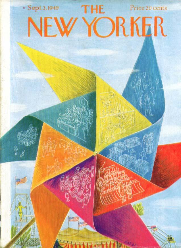 Image for New Yorker cover Karasz circus pinwheel 9/3 1949