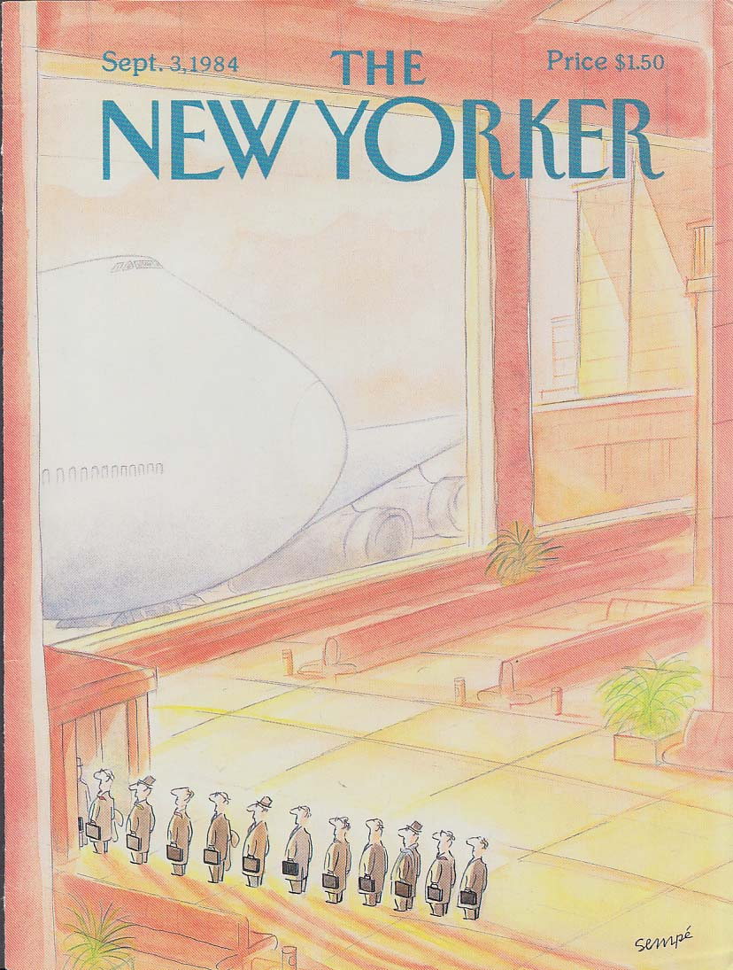 Image for New Yorker cover Sempe businessmen wait 9/30 1984