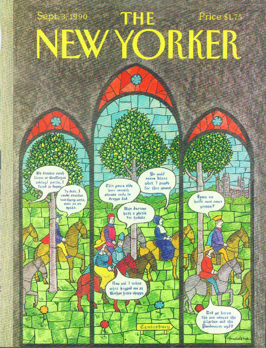 Image for New Yorker cover Handelsman Canterbury Tales 9/3 1990