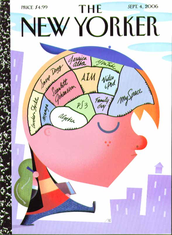 New Yorker cover Bob Staake youth's brain map Snoop Dogg MySpace PS3 + 9/4 2006