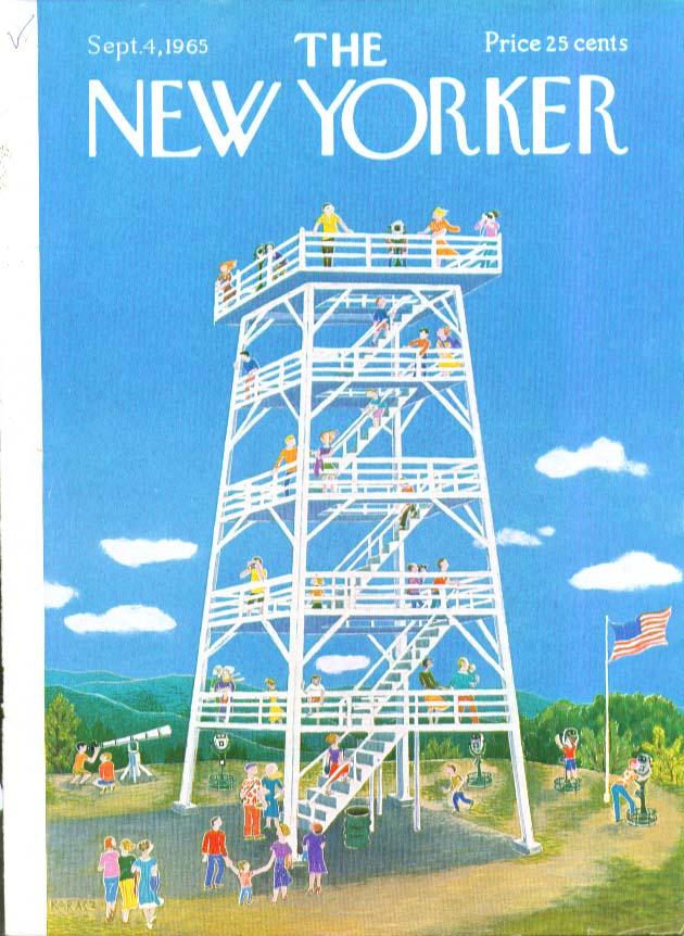 New Yorker cover Karasz observation tower 9/4 1965