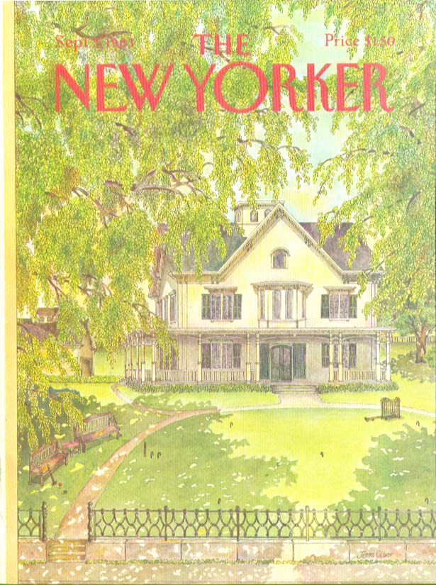 Image for New Yorker cover Oliver croquet on lawn 9/5 1983