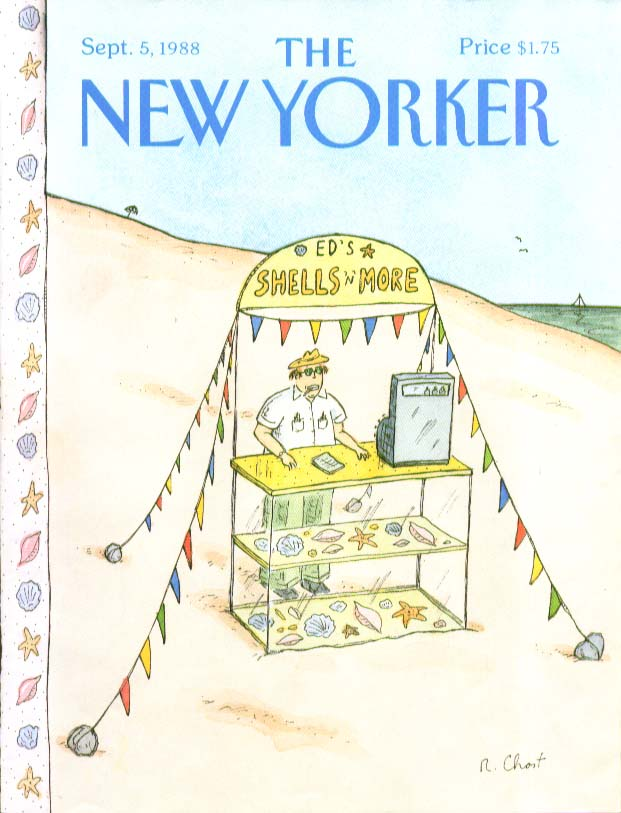 New Yorker cover Chast Ed's Shells & more 9/5 1988