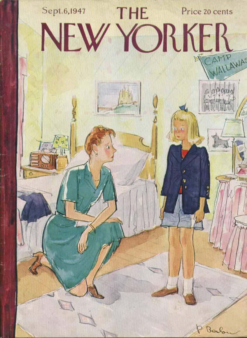 New Yorker cover Barlow girl school uniform 9/6 1947
