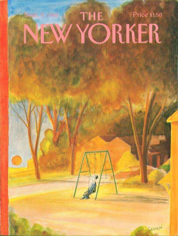 Image for New Yorker cover Sempe man & briefcase swings 9/9 1985