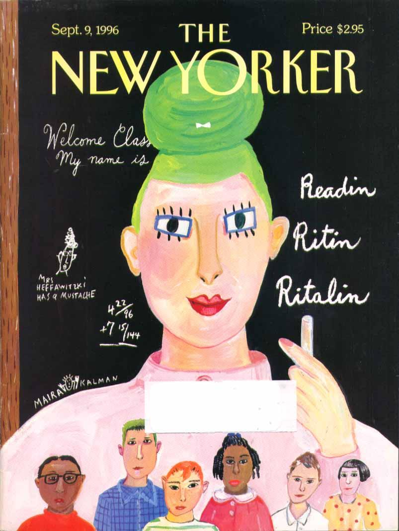 New Yorker cover Kalman Readin Ritin Ritalin 9/9 1996