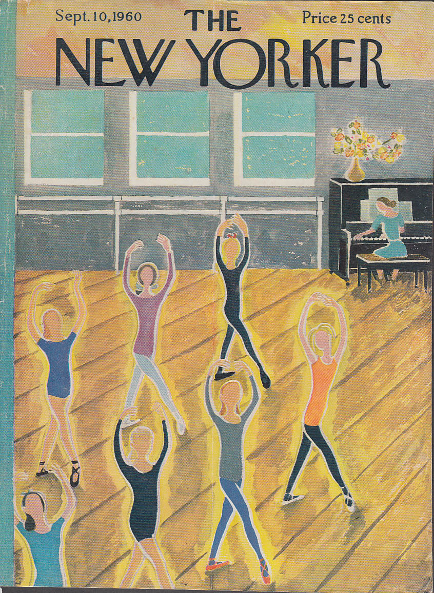 New Yorker cover Karasz ballet class 9/10 1960