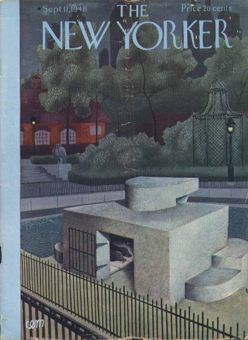 New Yorker cover Martin sleeping zoo seals 9/11 1948