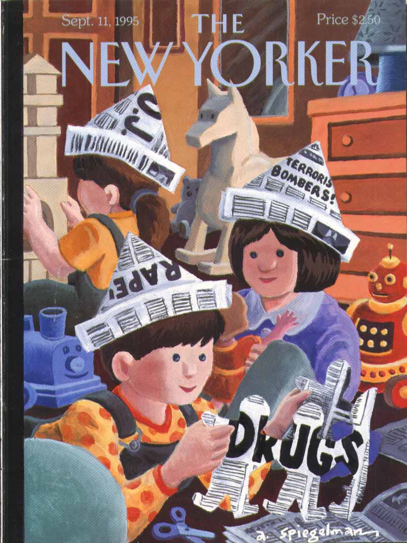 New Yorker cover Spiegelman NY Post paper hat 9/11 1995