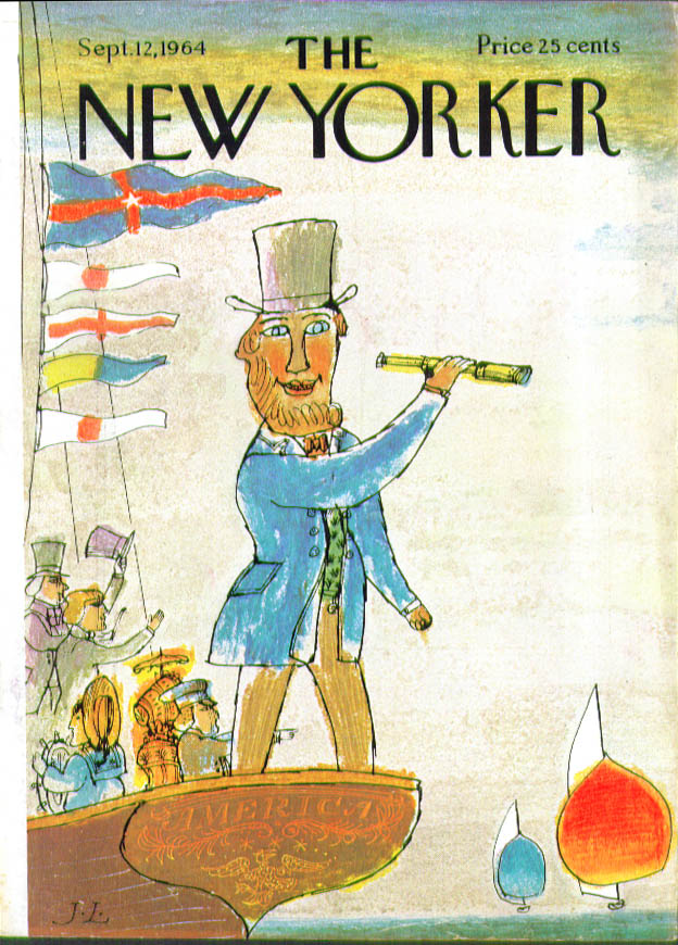 Image for New Yorker cover Low 19th century boatman 9/12 1964