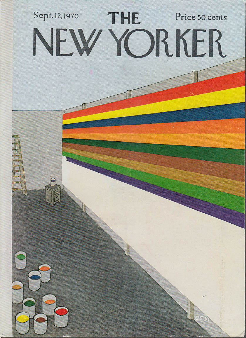 New Yorker cover Martin unfinished abstract 9/12 1970