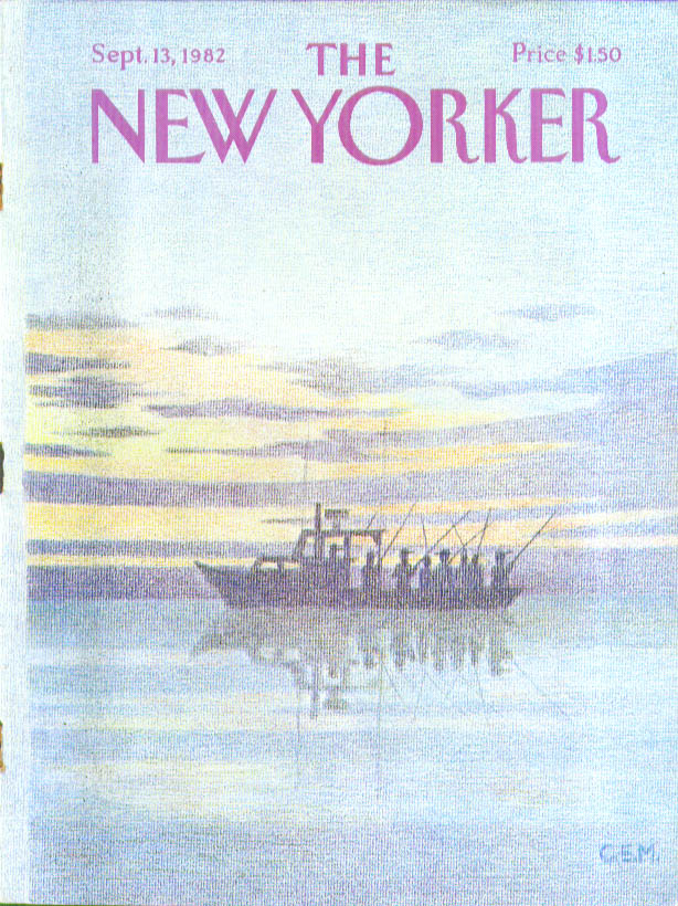 Image for New Yorker cover Martin sportfishing boat 9/13 1982