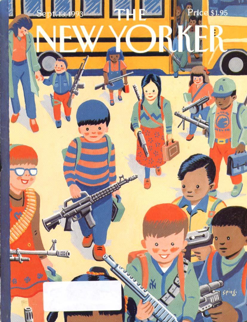 New Yorker cover Spiegelman schoolkids armed 9/13 1993