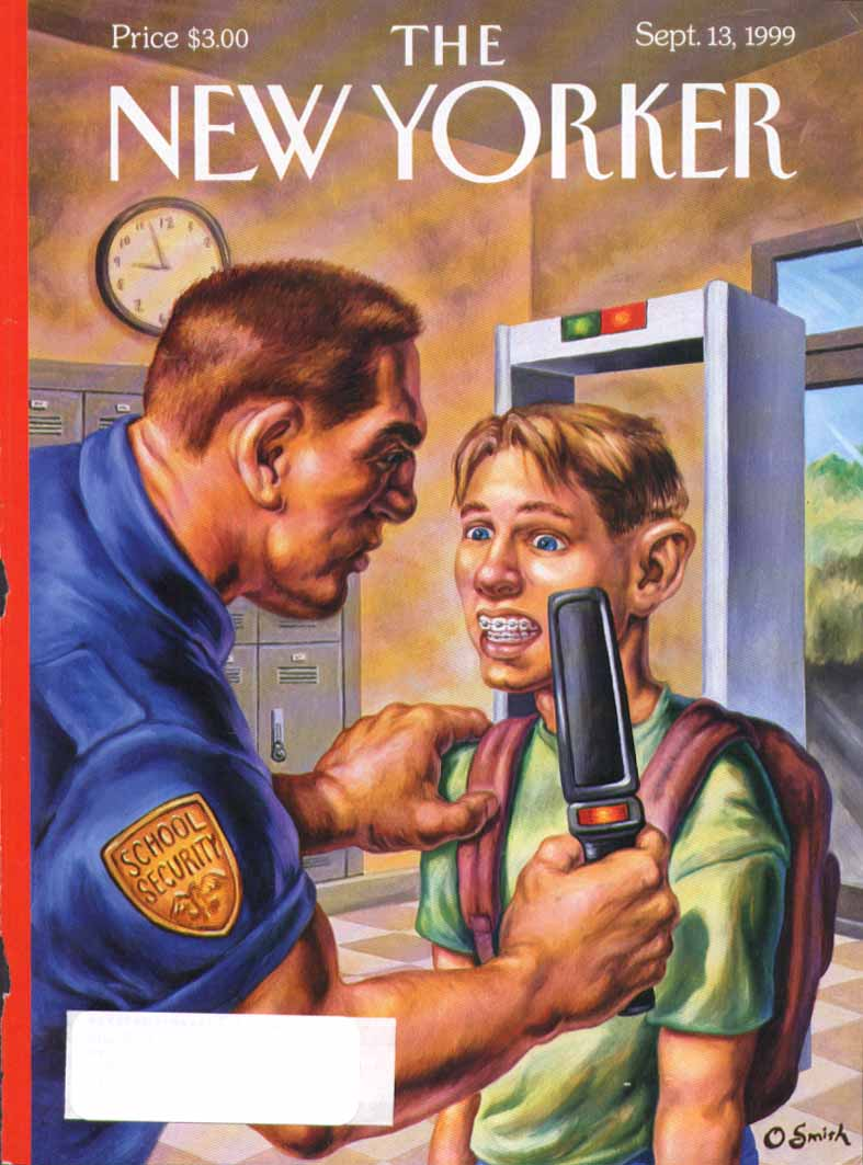 New Yorker cover Smith braces set off alarm 9/13 1999