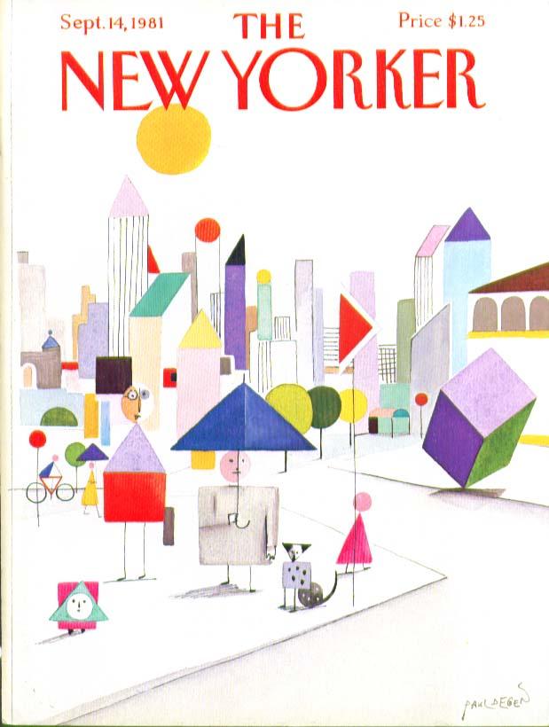 Image for New Yorker cover Degen cubist street umbrella 9/14 1981