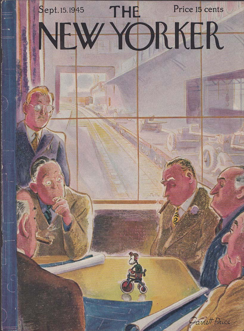 New Yorker cover Price toy execs windup toy 9/15 1945