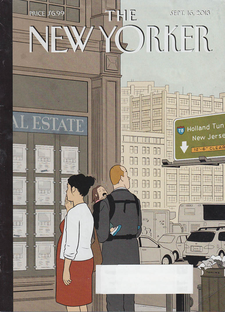 New Yorker cover 9/16 2013 Tomine: New Jersey beckons NYC apartment hunters