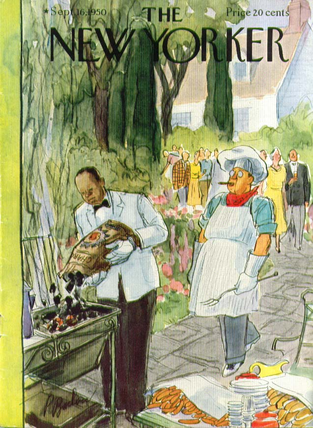 New Yorker cover Barlow butler loads charcoal 9/16 1950