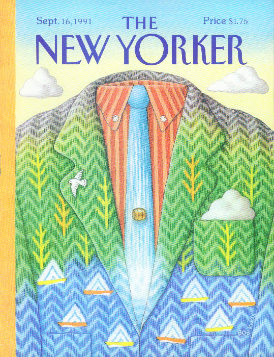 Image for New Yorker cover Knox tie & jacket as water 9/16 1991