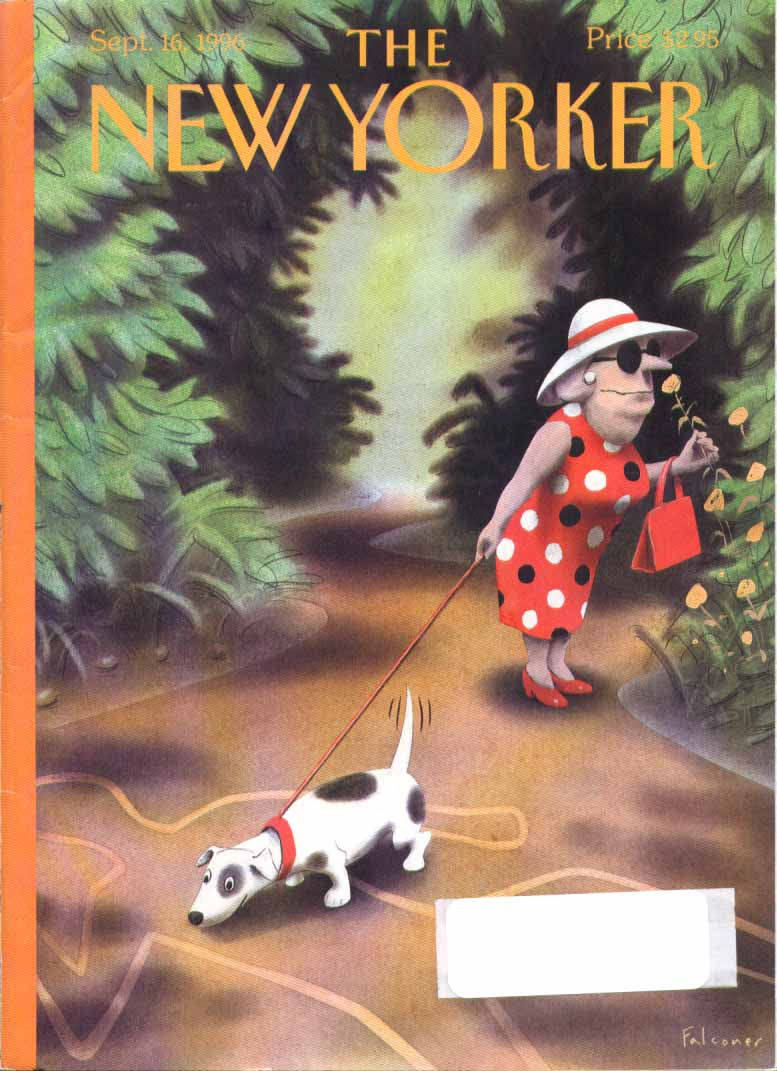 New Yorker cover Falconer dog corpse outline 9/16 1996