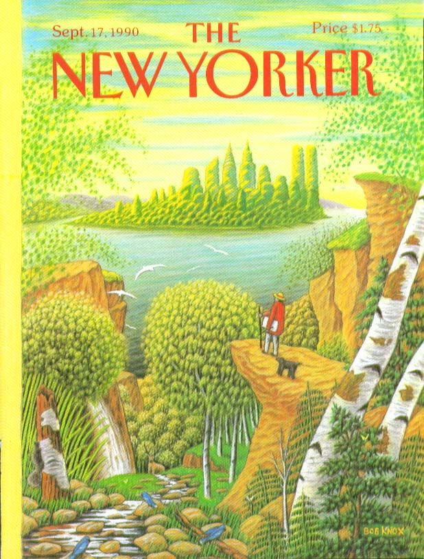 Image for New Yorker cover Knox 19th century artist 9/17 1990