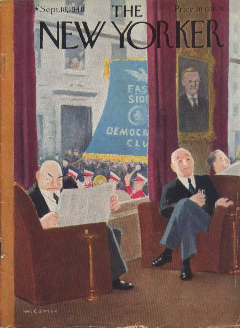 New Yorker cover Cotton GOP clubmen 9/18 1948