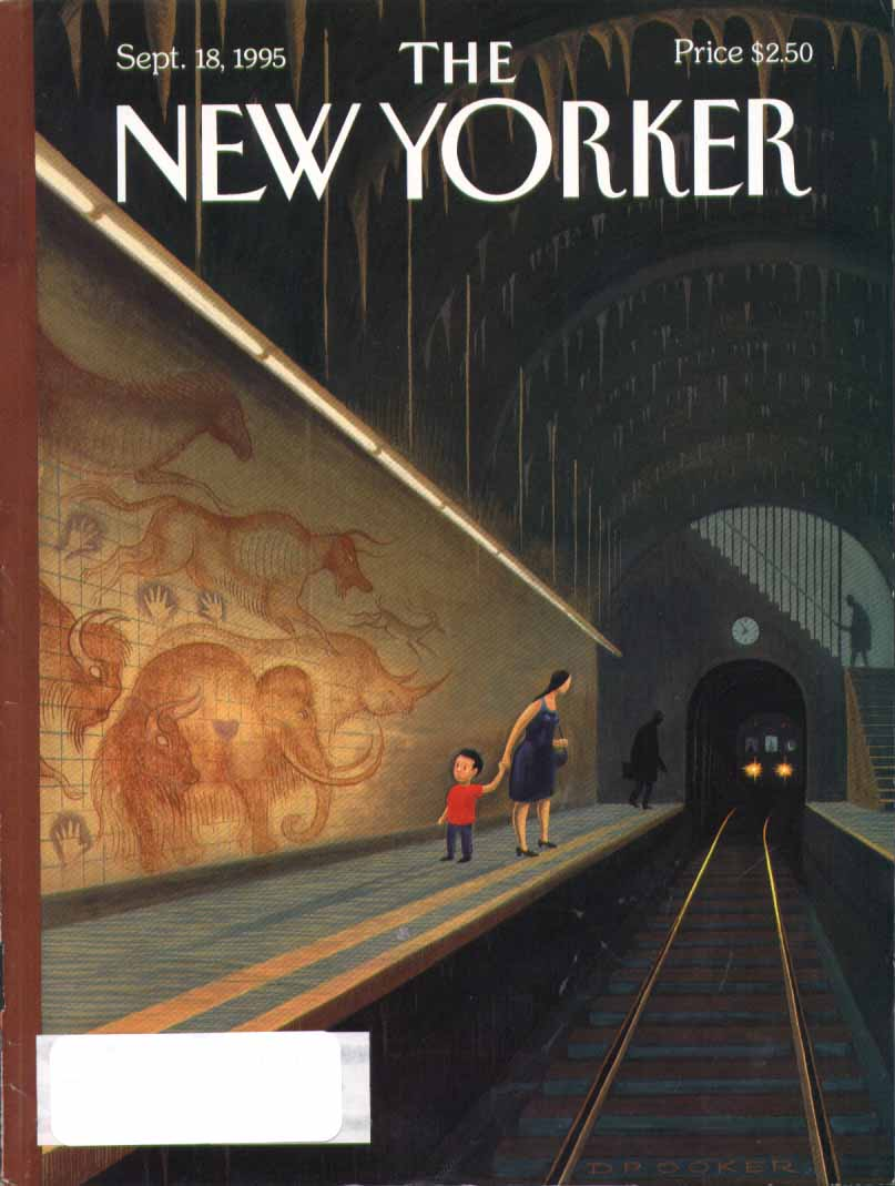 New Yorker cover Drooker cave painting subway 9/18 1995
