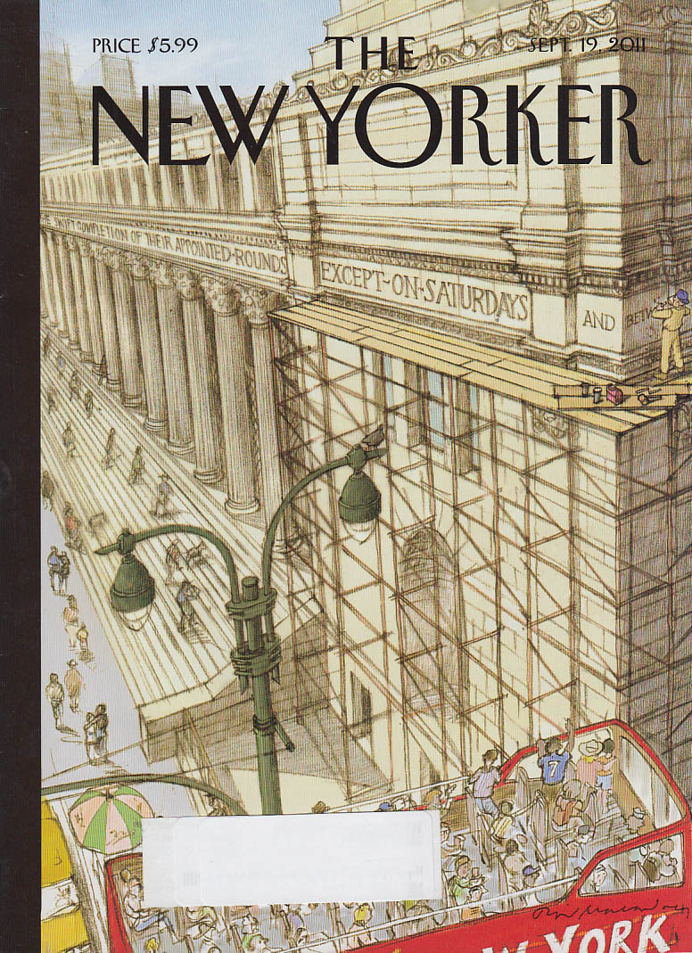New Yorker cover 9/19 2011 Macaulay Post Office to Stop Saturday delivery