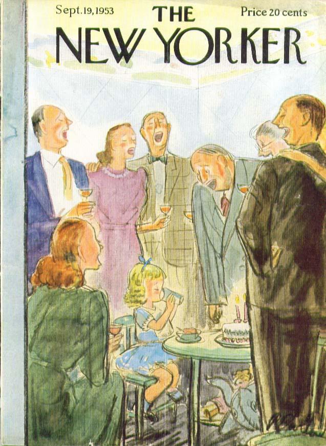 New Yorker cover Barlow 2-yr-old birthday 9/19 1953