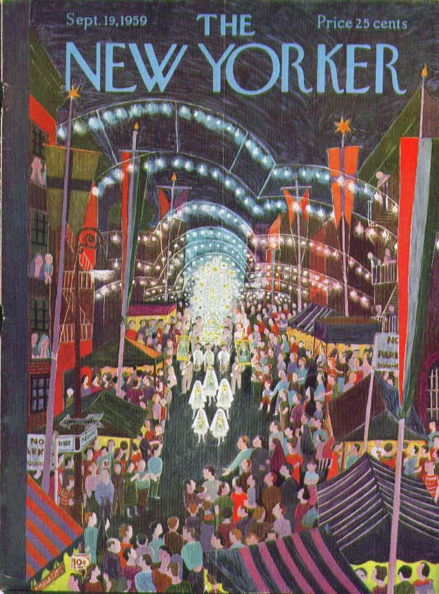 New Yorker cover Karasz Little Italy 9/19 1959