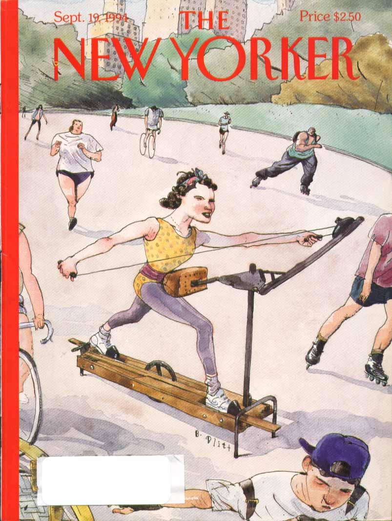 New Yorker cover Blitt stationary in park 9/19 1994
