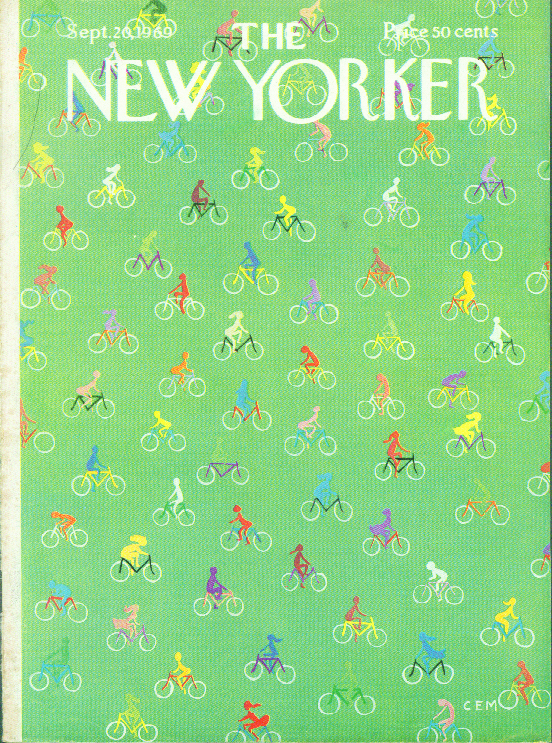 New Yorker cover Martin colorful bicycles 9/20 1969