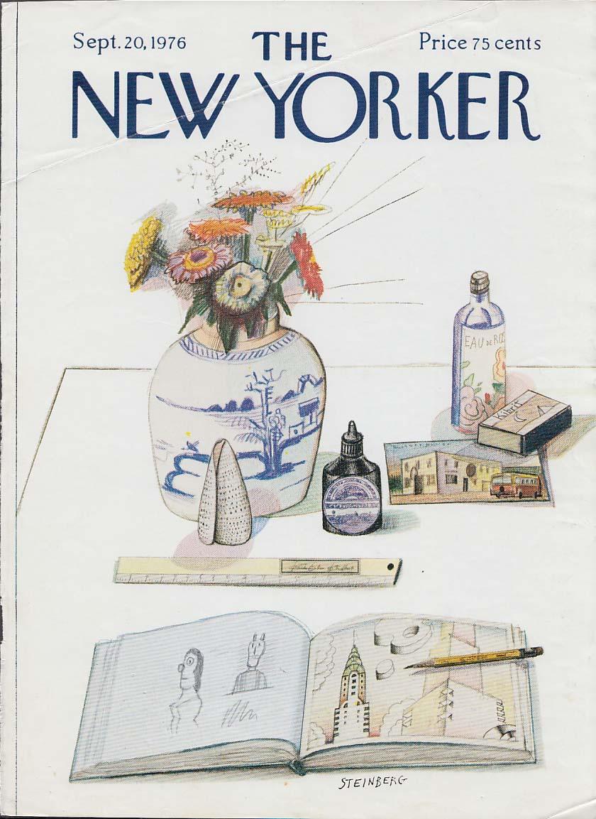 New Yorker cover 9/20 1976 Steinberg artist's sketchbook & still life