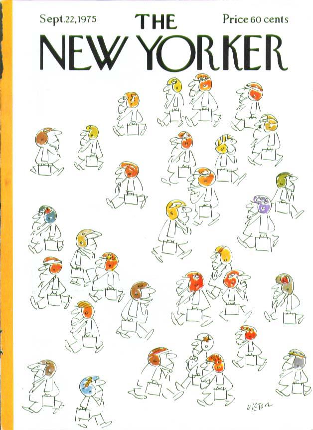 Image for New Yorker cover Vietor football businessmen 9/22 1975