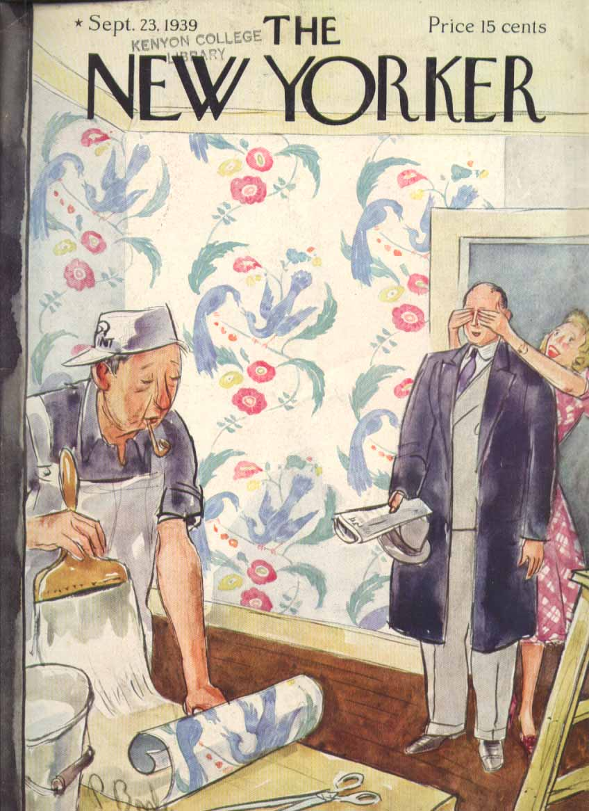 New Yorker cover Barlow wallpaper surprise 9/23 1939