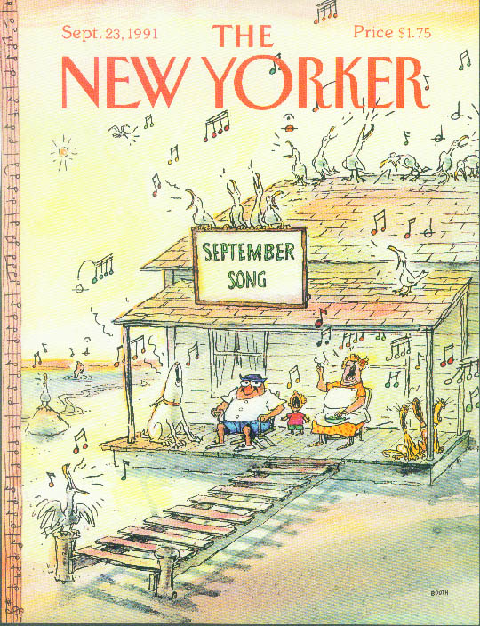 Image for New Yorker cover Booth September Song beach 9/23 1991
