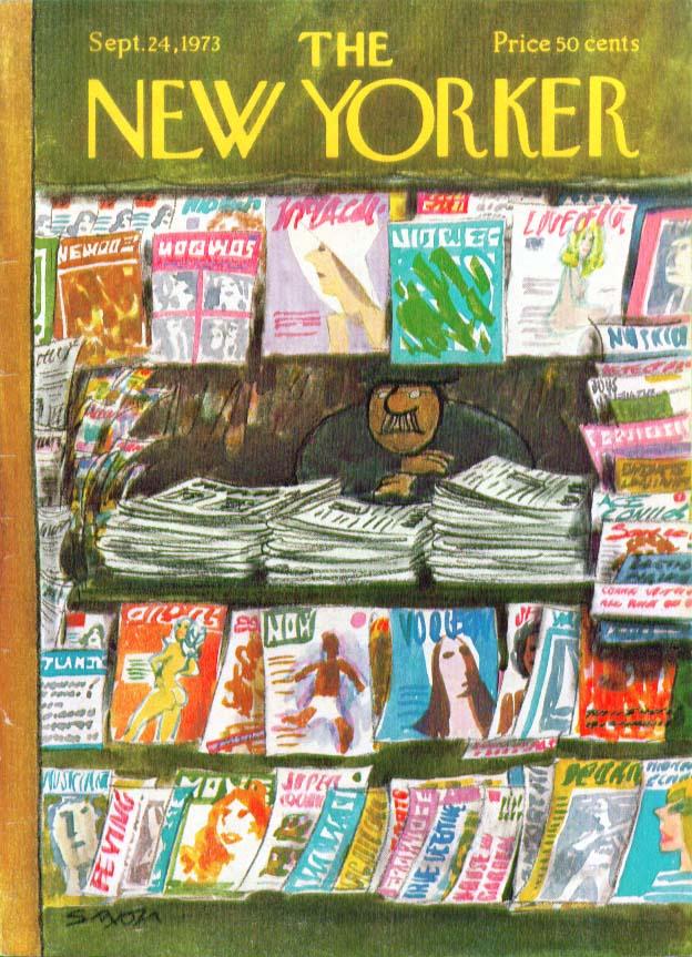 Image for New Yorker cover Saxon gray newsdealer 9/24 1973