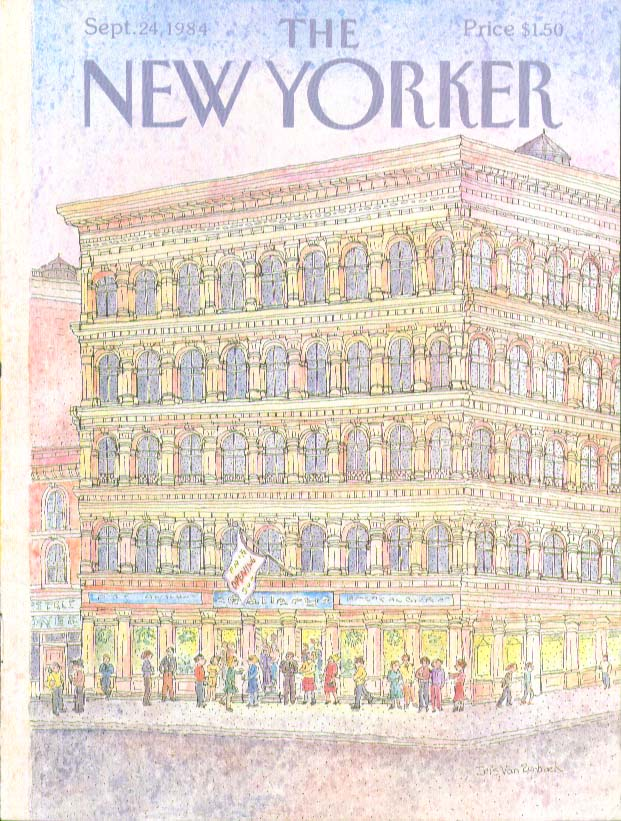 Image for New Yorker cover Rynbach art gallery opening 9/24 1984