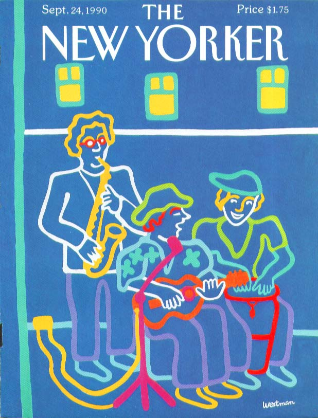Image for New Yorker cover Westman street musician trio 9/24 1990
