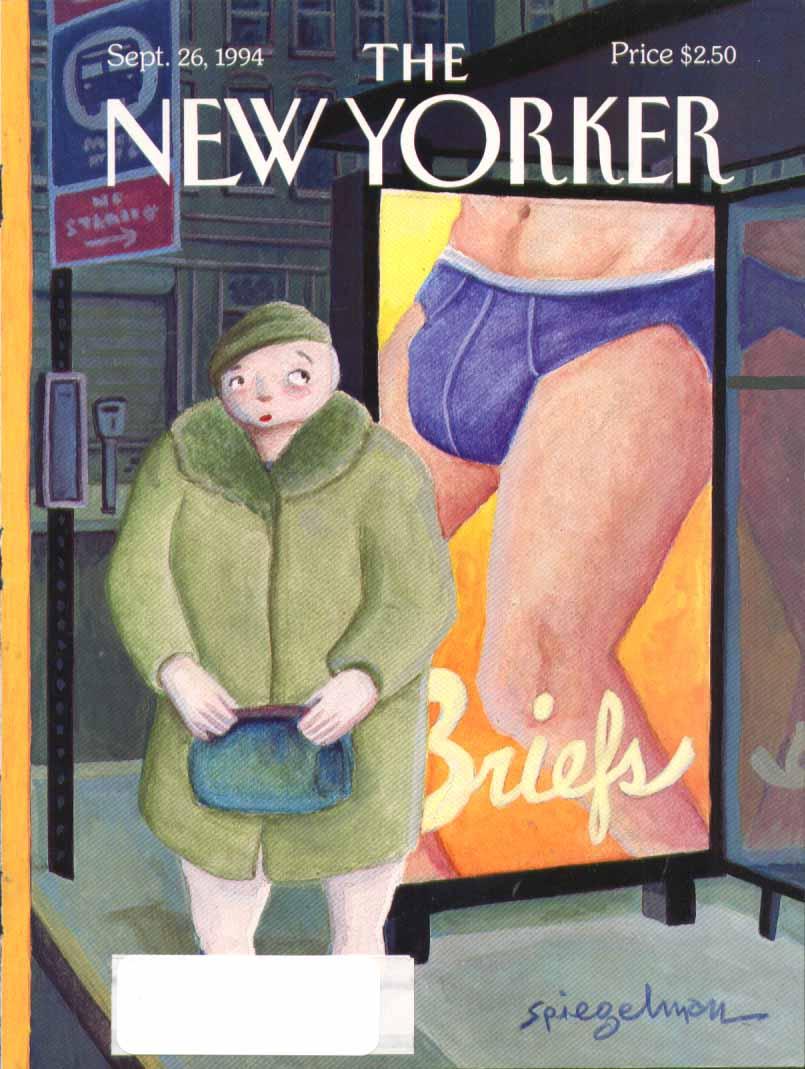 New Yorker cover Spiegelman bulging briefs ad 9/26 1994