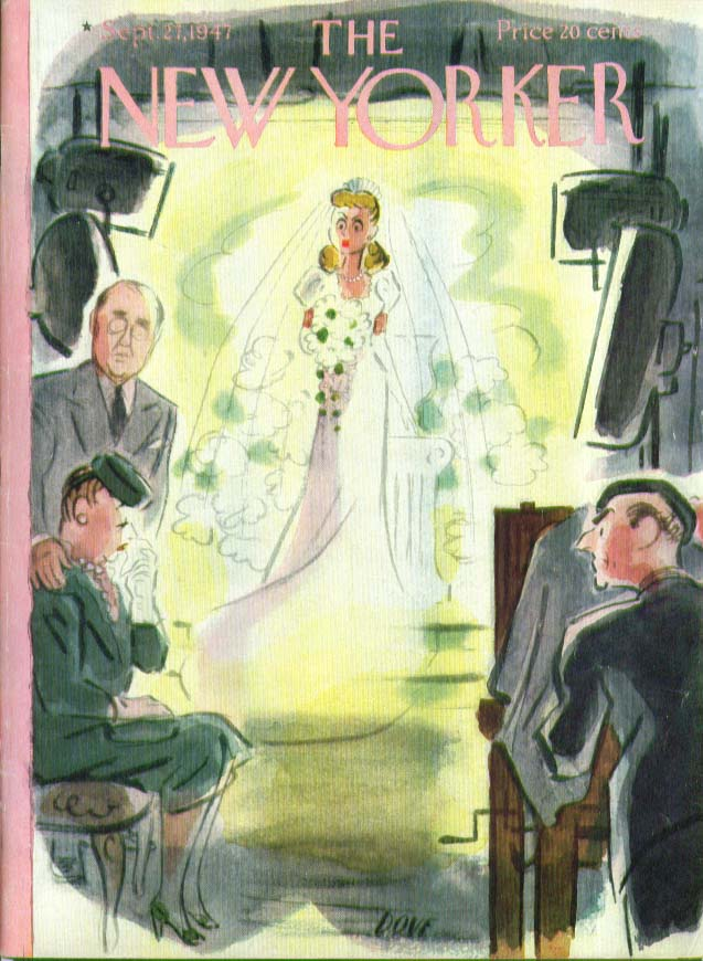New Yorker cover Dove movie wedding weep 9/27 1947