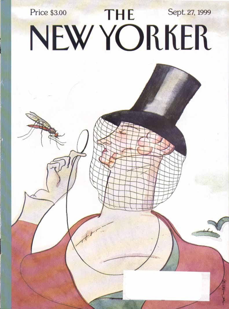 New Yorker cover Blitt Tilley v mosquito 9/27 1999