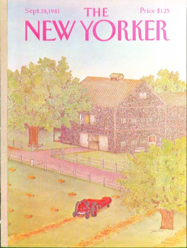 Image for New Yorker cover Oliver Old stone barn 9/28 1981