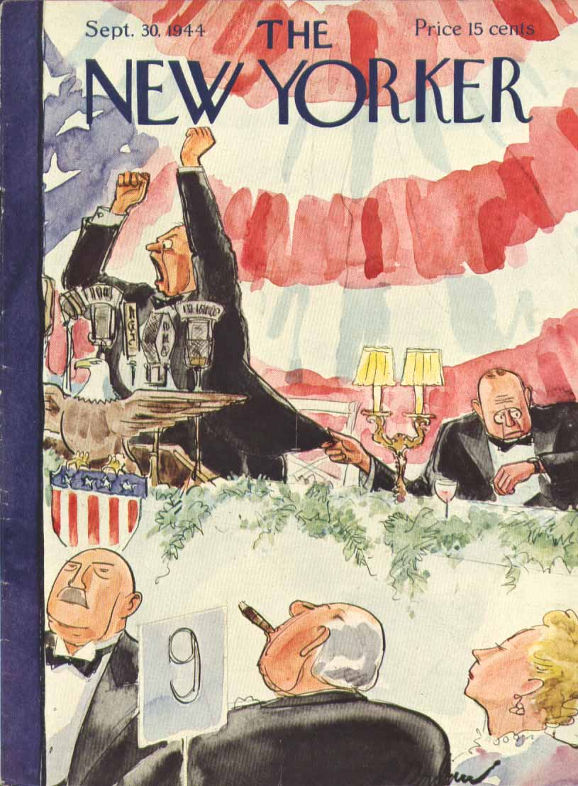 New Yorker cover Barlow campaign banquet speech 9/30 1944