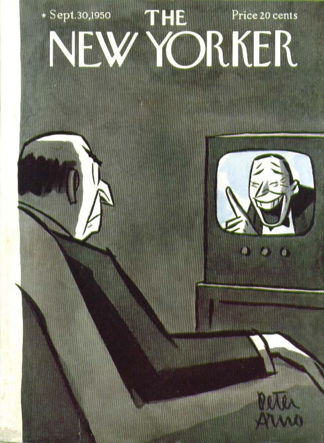 Image for New Yorker cover Arno TV comedian Fred Allen? 9/30 1950