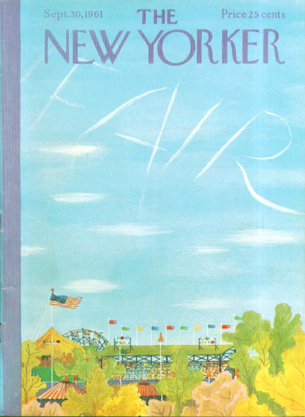 Image for New Yorker cover Karasz county fair 9/30 1961